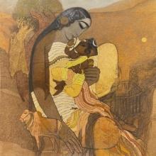 Religious Acrylic Art Painting title Lord Ganesha by artist Siddharth Shingade