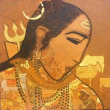Figurative Acrylic Art Painting title 'Shiva' by artist Siddharth Shingade