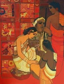 Siddharth Shingade | Acrylic Painting title Toy Seller on Canvas | Artist Siddharth Shingade Gallery | ArtZolo.com