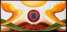 Expressionist Acrylic Art Painting title 'Synergy' by artist Manju Lamba