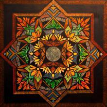 Lifestyle Acrylic Art Painting title 'FLOWER GARDEN' by artist Manju Lamba