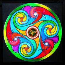 Lifestyle Acrylic Art Painting title 'Wheel of Life' by artist Manju Lamba