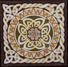 Celtic Rope Mandala.big | Painting by artist Manju Lamba | acrylic | Celtic Rope