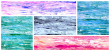 Abstract Acrylic Art Painting title Collage 2 by artist Manju Lamba