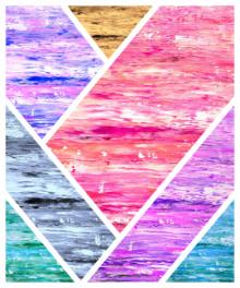 Abstract Acrylic Art Painting title 'Collage 1' by artist Manju Lamba