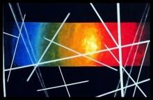 Abstract Acrylic Art Painting title 'SunFest' by artist Manju Lamba