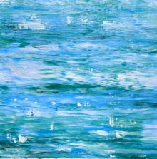 Colours of the Ocean | Painting by artist Manju Lamba | acrylic | Turquoise Waves
