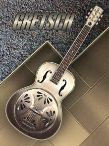 Old Gretsch Acoustic Resonator | Photography by artist Shavit Mason | Art print on Canvas