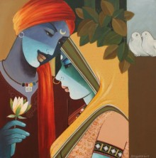 Love II | Painting by artist Agacharya A | acrylic | Canvas