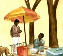 Figurative Watercolor Art Painting title 'Untitled' by artist Gulab Kapadiya