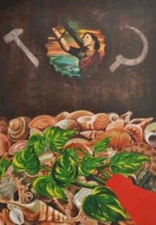 Bhavesh Patel | Mixed-media Painting title Maatri on Canvas | Artist Bhavesh Patel Gallery | ArtZolo.com