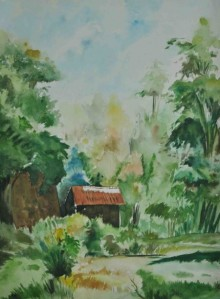 Nature Watercolor Art Painting title Nature I by artist Bhavesh Patel