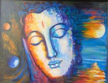 Purnima Gupta | Acrylic-oil Painting title I Am Everywhere on canvas | Artist Purnima Gupta Gallery | ArtZolo.com