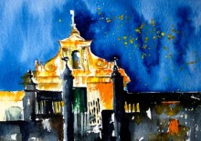 Veronique Piaser-moyen | Watercolor Painting title Cathedrale on Paper