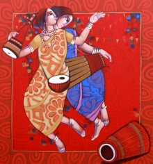 Figurative Acrylic Art Painting title 'Bengali Tune 9' by artist Sekhar Roy