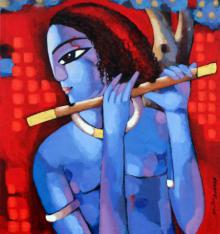 Krishna I | Painting by artist Sekhar Roy | acrylic | Canvas