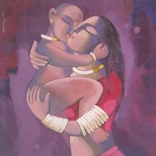 Fantasy Acrylic Art Painting title 'My Mother2' by artist Sekhar Roy