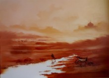 Landscape I | Painting by artist Narayan Shelke | oil | Canvas
