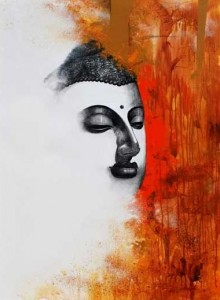 Buddha II | Painting by artist Narayan Shelke | acrylic | Canvas