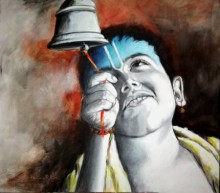 Aastha II | Painting by artist Kamal Nath | acrylic | Canvas