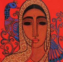 Figurative Acrylic Art Painting title 'Towards Tradition II' by artist Mamta Mondkar
