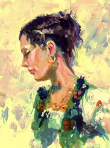Figurative Acrylic Art Painting title 'Beauty 01' by artist Raviraj Kumbhar