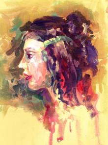 Figurative Acrylic Art Painting title 'Beauty 02' by artist Raviraj Kumbhar