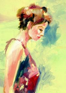 Figurative Acrylic Art Painting title 'Beauty 05' by artist Raviraj Kumbhar