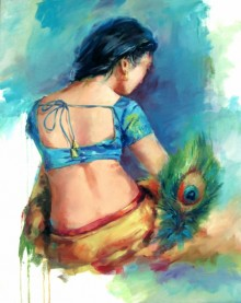 Love 3 | Painting by artist Raviraj | oil | Canvas Board