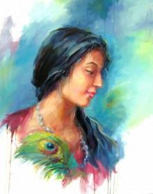 Love 4 | Painting by artist Raviraj | oil | Canvas Board