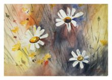 Landscape Watercolor Art Painting title Flowers 2 by artist Soven Roy