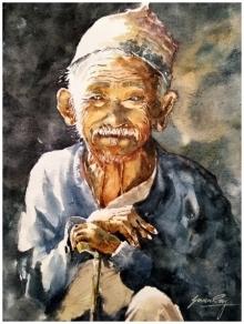 #painting #watercolour #portrait