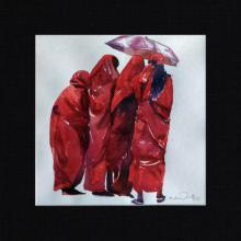 Solomon Rajendiran | Watercolor Painting title The Experience on board | Artist Solomon Rajendiran Gallery | ArtZolo.com