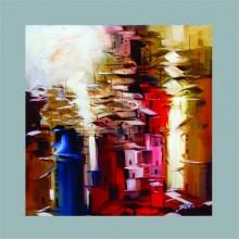 Solomon Rajendiran | Acrylic Painting title Present landscape on Canvas | Artist Solomon Rajendiran Gallery | ArtZolo.com