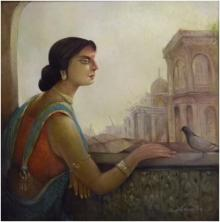 100 Years Ago | Painting by artist Arun Samadder | oil | Canvas