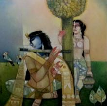 Arun Samadder | Oil Painting title Mind Scape on Canvas | Artist Arun Samadder Gallery | ArtZolo.com