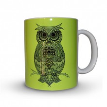 Sejal M | Owl Coffee Mug Craft Craft by artist Sejal M | Indian Handicraft | ArtZolo.com