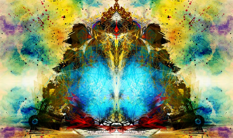 Modern table lamps for living room - Shri Ganesha Abstract 02 Digital Art By Pradip Shinde