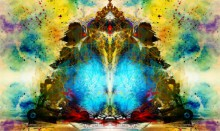 Shri Ganesha Abstract 02 | Digital_art by artist Pradip Shinde | Art print on Canvas
