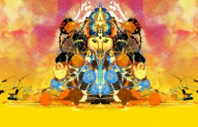 Pradip Shinde | Shri Ganesha Abstract 04 Digital art Prints by artist Pradip Shinde | Digital Prints On Canvas, Paper | ArtZolo.com