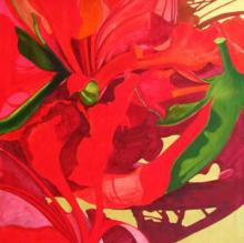 Balaji G. Bhange | Acrylic Painting title The Red Flower I on Canvas