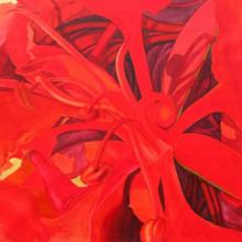 The Red Flower II | Painting by artist Balaji G. Bhange | acrylic | Canvas