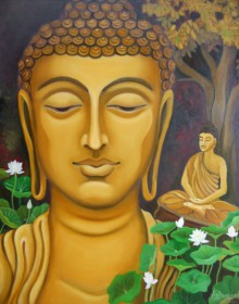 Buddha | Painting by artist Vishwajyoti Mohrhoff | oil | Canvas