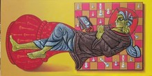 Figurative Acrylic Art Painting title Make Being King by artist Satyajeet Shinde