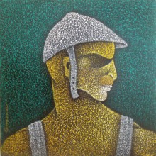 Figurative Acrylic Art Painting title 'Man Ii' by artist Satyajeet Shinde