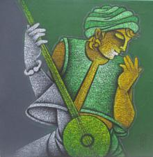 Satyajeet Shinde | Acrylic Painting title Music VI on Canvas | Artist Satyajeet Shinde Gallery | ArtZolo.com