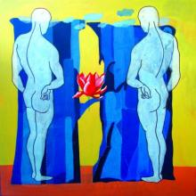 Who Is The Boss 4 | Painting by artist Deepak Kumar Ambuj | acrylic | Canvas