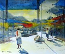 Crowford Market-8 | Painting by artist Bhuwan Silhare | acrylic | Canvas
