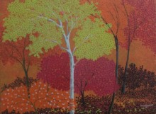 Shuvankar Maitra | Acrylic Painting title Morning 1 on Canvas