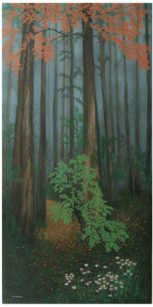 Landscape Acrylic Art Painting title 'Rainy Day' by artist Shuvankar Maitra